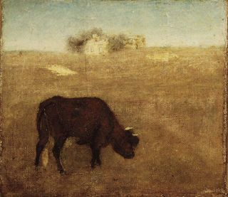 Brooklyn_Museum_-_Evening_Glow_The_Old_Red_Cow_-_Albert_Pinkham_Ryder_-_overall