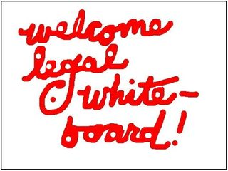 Welcome legal whiteboard