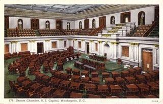 Us-capitol-senate-chamber-vintage-postcard